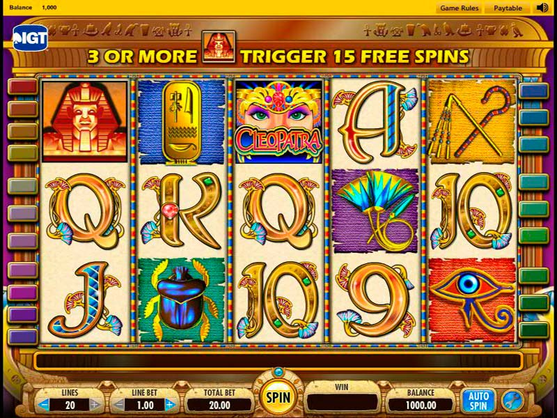 Cleopatra slot machines have a distinct Egyptian theme, complete with classic Egyptian symbols and easily recognizable sounds and music.The original slot machine game, known simply as Cleopatra, became so widely played that a direct sequel to it was also created.Cleopatra Slots: Base Game Wilds/5(24).Köşk